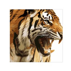 Royal Tiger National Park Small Satin Scarf (square) by Amaryn4rt