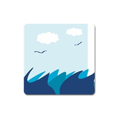Sea Square Magnet by Amaryn4rt