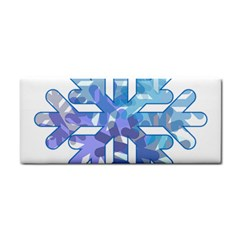 Snowflake Blue Snow Snowfall Cosmetic Storage Cases by Amaryn4rt