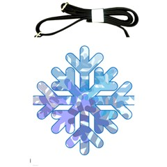 Snowflake Blue Snow Snowfall Shoulder Sling Bags by Amaryn4rt