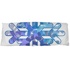 Snowflake Blue Snow Snowfall Body Pillow Case Dakimakura (two Sides) by Amaryn4rt