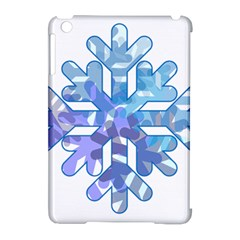 Snowflake Blue Snow Snowfall Apple Ipad Mini Hardshell Case (compatible With Smart Cover) by Amaryn4rt