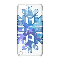 Snowflake Blue Snow Snowfall Apple Ipod Touch 5 Hardshell Case With Stand by Amaryn4rt