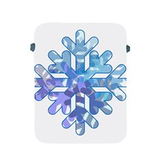 Snowflake Blue Snow Snowfall Apple Ipad 2/3/4 Protective Soft Cases