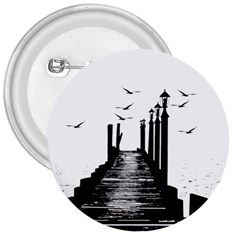 The Pier The Seagulls Sea Graphics 3  Buttons by Amaryn4rt