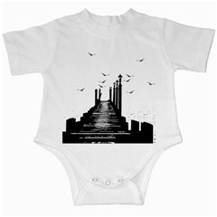 The Pier The Seagulls Sea Graphics Infant Creepers by Amaryn4rt