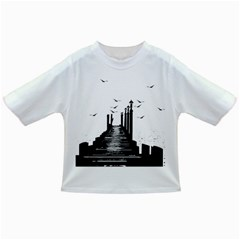 The Pier The Seagulls Sea Graphics Infant/toddler T Shirts by Amaryn4rt