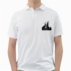 The Pier The Seagulls Sea Graphics Golf Shirts by Amaryn4rt