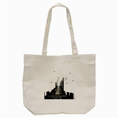 The Pier The Seagulls Sea Graphics Tote Bag (cream) by Amaryn4rt