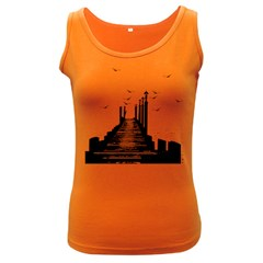 The Pier The Seagulls Sea Graphics Women s Dark Tank Top by Amaryn4rt