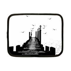 The Pier The Seagulls Sea Graphics Netbook Case (small)  by Amaryn4rt