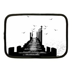 The Pier The Seagulls Sea Graphics Netbook Case (medium)  by Amaryn4rt