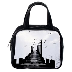 The Pier The Seagulls Sea Graphics Classic Handbags (one Side) by Amaryn4rt