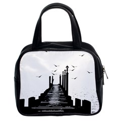 The Pier The Seagulls Sea Graphics Classic Handbags (2 Sides) by Amaryn4rt
