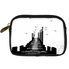 The Pier The Seagulls Sea Graphics Digital Camera Cases by Amaryn4rt