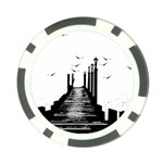 The Pier The Seagulls Sea Graphics Poker Chip Card Guard (10 pack) Back