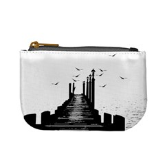 The Pier The Seagulls Sea Graphics Mini Coin Purses by Amaryn4rt
