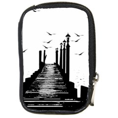 The Pier The Seagulls Sea Graphics Compact Camera Cases by Amaryn4rt