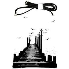 The Pier The Seagulls Sea Graphics Shoulder Sling Bags by Amaryn4rt