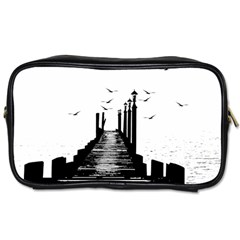 The Pier The Seagulls Sea Graphics Toiletries Bags 2 Side by Amaryn4rt