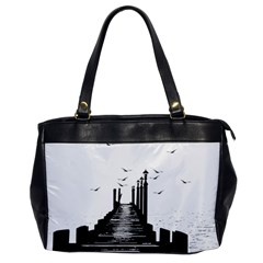 The Pier The Seagulls Sea Graphics Office Handbags by Amaryn4rt
