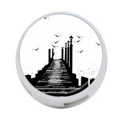 The Pier The Seagulls Sea Graphics 4 Port Usb Hub (one Side) by Amaryn4rt
