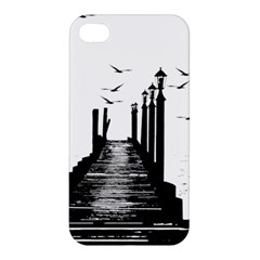 The Pier The Seagulls Sea Graphics Apple Iphone 4/4s Hardshell Case