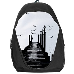 The Pier The Seagulls Sea Graphics Backpack Bag by Amaryn4rt