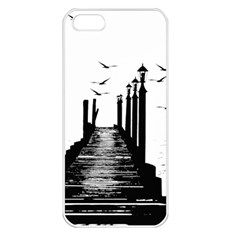 The Pier The Seagulls Sea Graphics Apple Iphone 5 Seamless Case (white) by Amaryn4rt