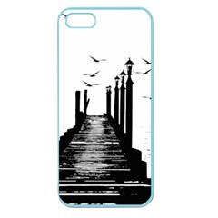 The Pier The Seagulls Sea Graphics Apple Seamless Iphone 5 Case (color) by Amaryn4rt