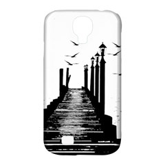 The Pier The Seagulls Sea Graphics Samsung Galaxy S4 Classic Hardshell Case (pc+silicone) by Amaryn4rt