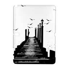 The Pier The Seagulls Sea Graphics Galaxy Note 1 by Amaryn4rt
