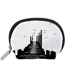 The Pier The Seagulls Sea Graphics Accessory Pouches (small)  by Amaryn4rt
