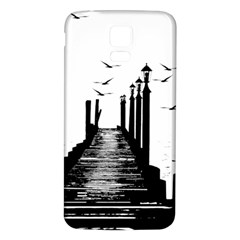 The Pier The Seagulls Sea Graphics Samsung Galaxy S5 Back Case (white) by Amaryn4rt