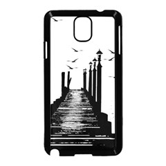 The Pier The Seagulls Sea Graphics Samsung Galaxy Note 3 Neo Hardshell Case (black) by Amaryn4rt