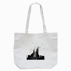 The Pier The Seagulls Sea Graphics Tote Bag (white) by Amaryn4rt