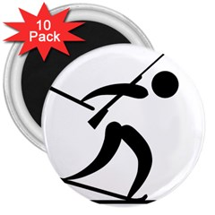 Biathlon Pictogram 3  Magnets (10 Pack)  by abbeyz71