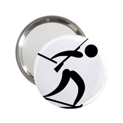 Biathlon Pictogram 2 25  Handbag Mirrors by abbeyz71