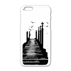 The Pier The Seagulls Sea Graphics Apple Iphone 6/6s White Enamel Case