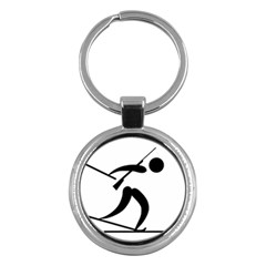 Biathlon Pictogram Key Chains (round)  by abbeyz71