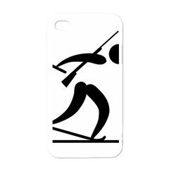 Biathlon Pictogram Apple Iphone 4 Case (white) by abbeyz71