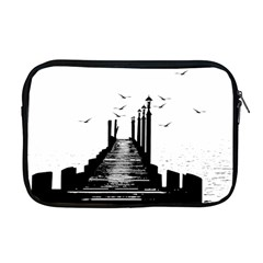 The Pier The Seagulls Sea Graphics Apple Macbook Pro 17  Zipper Case by Amaryn4rt