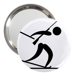 Biathlon Pictogram 3  Handbag Mirrors by abbeyz71