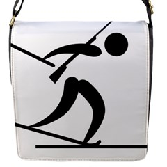 Biathlon Pictogram Flap Messenger Bag (s) by abbeyz71
