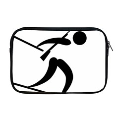 Biathlon Pictogram Apple Macbook Pro 17  Zipper Case by abbeyz71