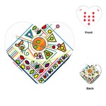 Vector Icon Symbol Sign Design Playing Cards (Heart)  Front