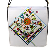 Vector Icon Symbol Sign Design Flap Messenger Bag (l)  by Amaryn4rt