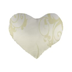 Background Light Line Texture Standard 16  Premium Heart Shape Cushions