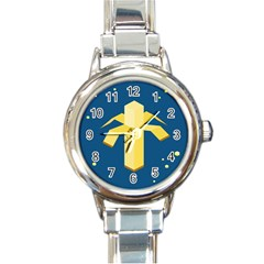 Banana Space Round Italian Charm Watch