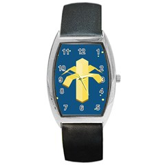 Banana Space Barrel Style Metal Watch